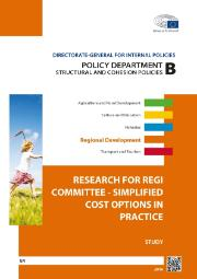 Cover page of a study on Simplified Cost Options in practice