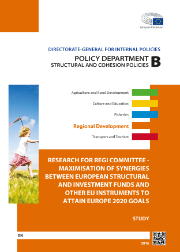Cover page of a study on Maximisation of synergies between the European Structural and Investment Funds and other EU instruments to attain Europe 2020 goals