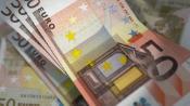 Photo of 50 euro bills.