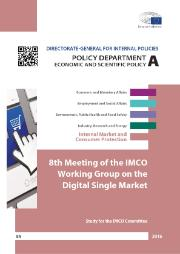 Proceedings of the 8th Meeting of the IMCO Working Group on the Digital Single Market