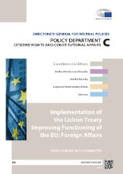 Implementation of the Lisbon Treaty Improving Functioning of the EU: Foreign Affairs