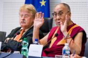 His Holiness the Dalai Lama addressing AFET Members
