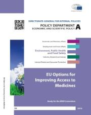 Study on EU Options for Improving Access to Medicines cover page