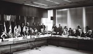 Signing of the act concerning the election of the Members of the European Parliament by direct universal suffrage (Brussels, 20 September 1976)