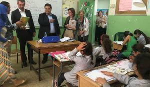 EP delegatsioon külastamas Liibanonis koolimaja