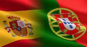 Flags of Spain and Portugal