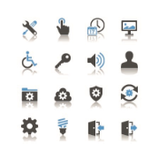 several icons on accessibility to products ans services