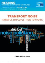Public hearing on Transport noise: harmful to people! How to avoid it?