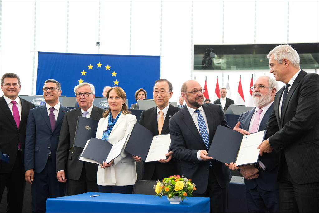 European Parliament Ratifies Global Climate Deal