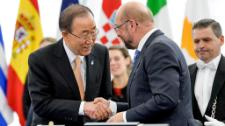 The European Parliament gave its consent to the ratification of the first-ever universal and legally binding global climate deal in the presence of UN Secretary-General Ban Ki-moon.