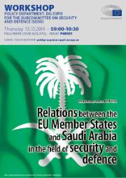 "SEDE: Poster workshop ""Relations between the EU Member States and Saudi Arabia in the field of security and defence"""