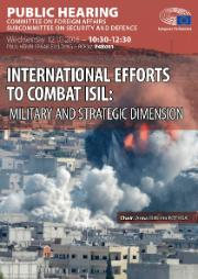 SEDE: Poster public hearing International efforts to combat ISIL: military and strategic dimension