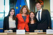 Winners of Charlemagne Youth Prize 2016 at CULT Committee