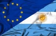 Image of EU and Argentinian flags