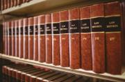 books of law on shelf