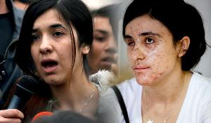 Retratos de Nadia Murad Basee e Lamiya Aji Bashar