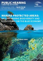 Marine protected areas hearing poster
