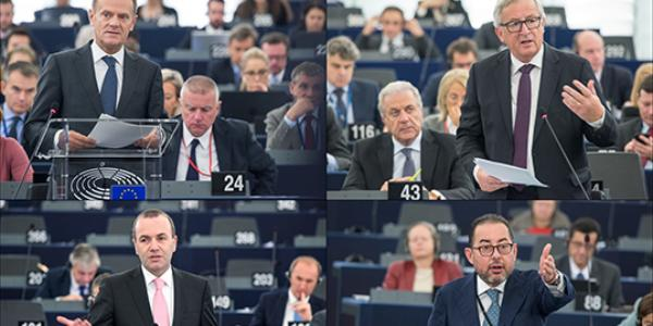 CETA and Russia dominate EU summit conclusion debate with Juncker and Tusk