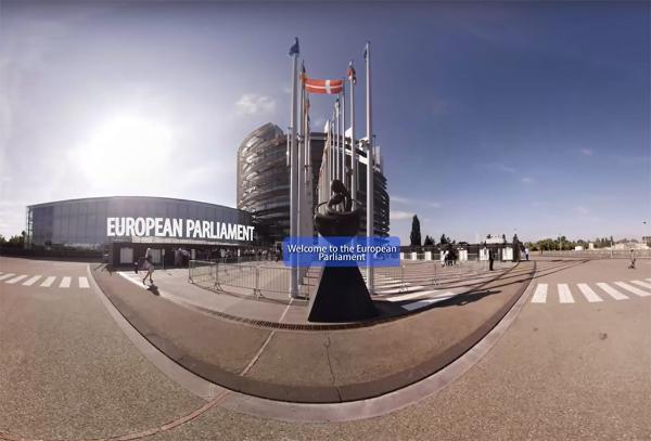 Das EU-Parlament in 360°