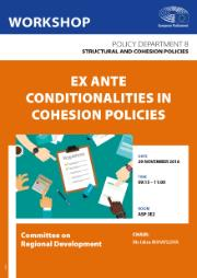Poster of a Workshop on Ex-Ante Conditionalities in Cohesion Policies, REGI Committee