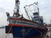Photo of a fishing vessel for press release on PECH delegation to Thailand