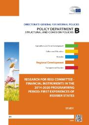 Cover page of a Study on Financial instruments in the 2014-2020 programming period: first experiences of Member States