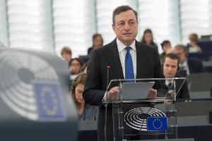 Mario Draghi about the ECB 2015 report