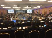 Photo of the meeting room of The Annual Meeting of the International Commission for the Conservation of Atlantic Tunas (ICCAT) 2016, Portugal
