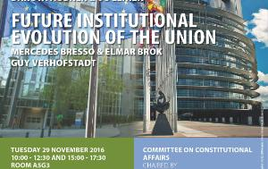 Poster for the AFCO interparliamentary committee meeting