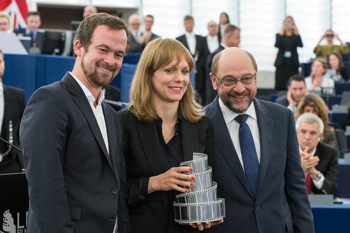Lux Prize winners with President Martin Schulz