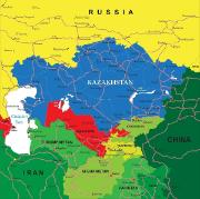 SEDE: coloured map of Central Asia