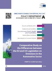 Study: Comparative study on the differences between the EU and US legislation on emissions in the automotive sector
