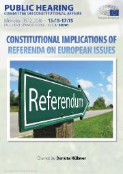 AFCO Hearing Poster on the constitutional implications of referenda on European issues