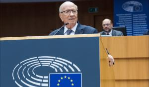 Mohamed Beji Caid Essebsi, President of Tunisia, addressing the European Parliament