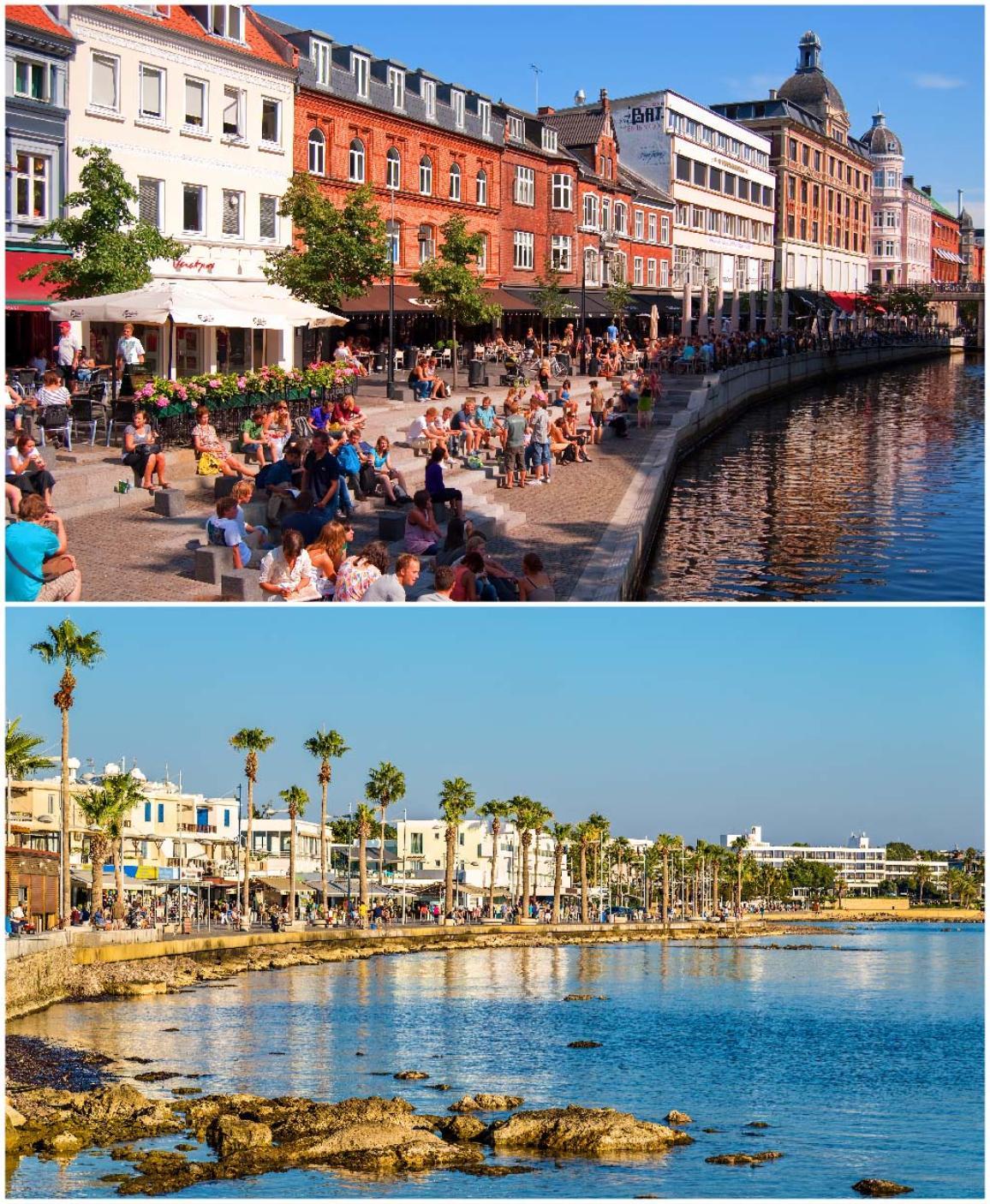 Capitales Europeas de la Cultura 2017. Aarhus (arriba) y Pafos (abajo) ©AP Images/European Union-EP.