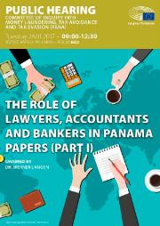 Public hearing of the PANA Committee of 24 January 2017 - Panama Papers - Committee of Inquiry into Money Laundering, Tax Avoidance and Tax Evasion