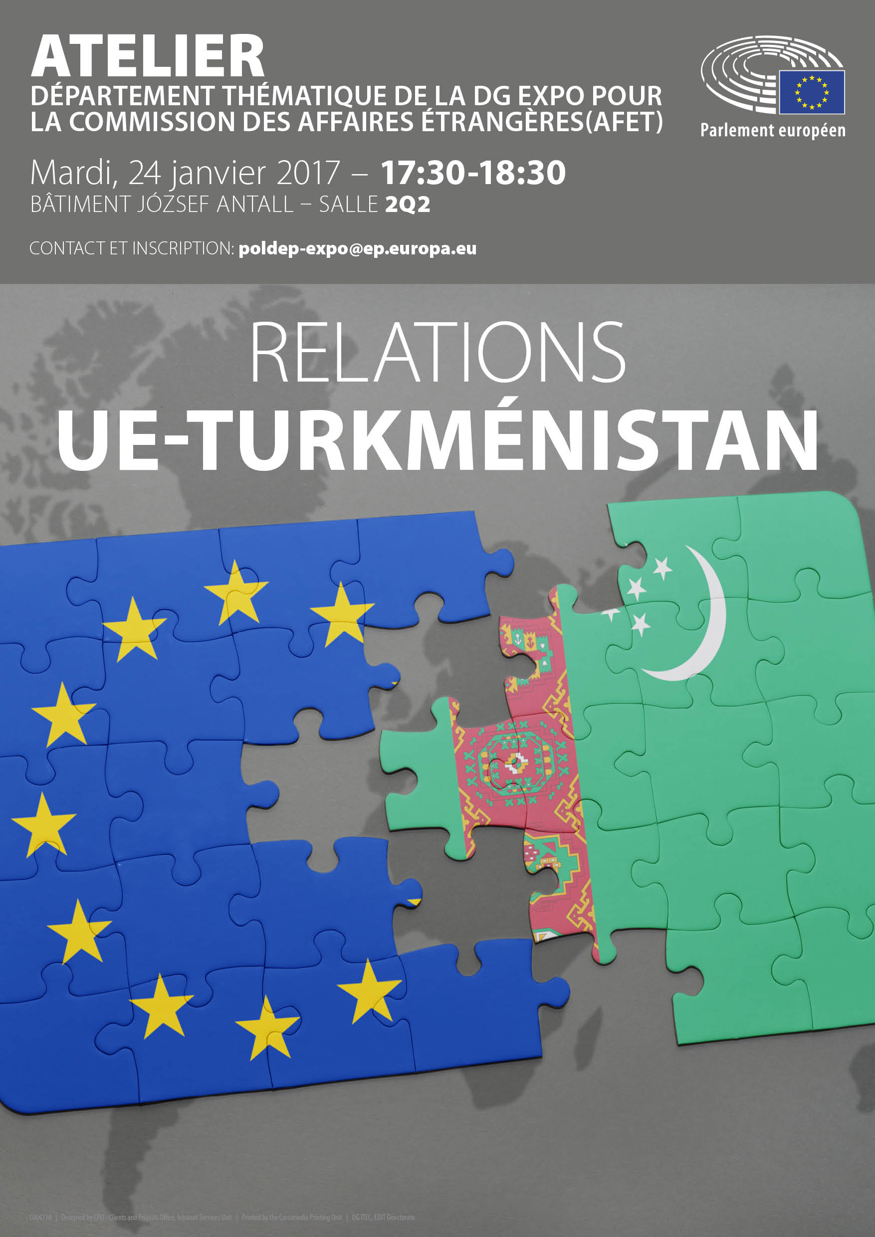 Poster: EU-Turkmenistan Workshop_FR