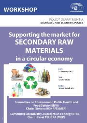 Supporting the market for SECONDARY RAW MATERIALS in a circular economy