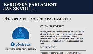 infografická ilustrace popisující volbu předsedy EP