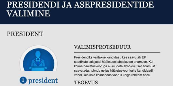 Infograafik: EP presidendi ja asepresidentide valimine