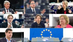 Antonio Tajani, Gianni Pittella, Helga Stevens, Guy Verhofstadt, Eleonora Forenza, Jean Lambert ) e Laurenţiu Rebega