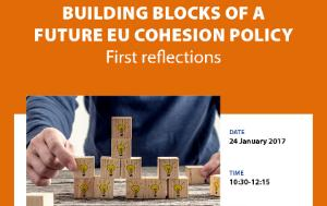 Cover page of a poster of workshop on Building blocks of a future EU cohesion policy - first reflections, DG IPOL, Committee on Regional Development