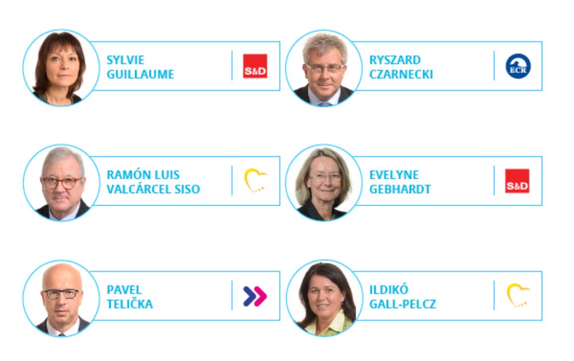 Fotografias e nomes do novo presidente e dos novos 14 vice-presidentes e 5 questores.