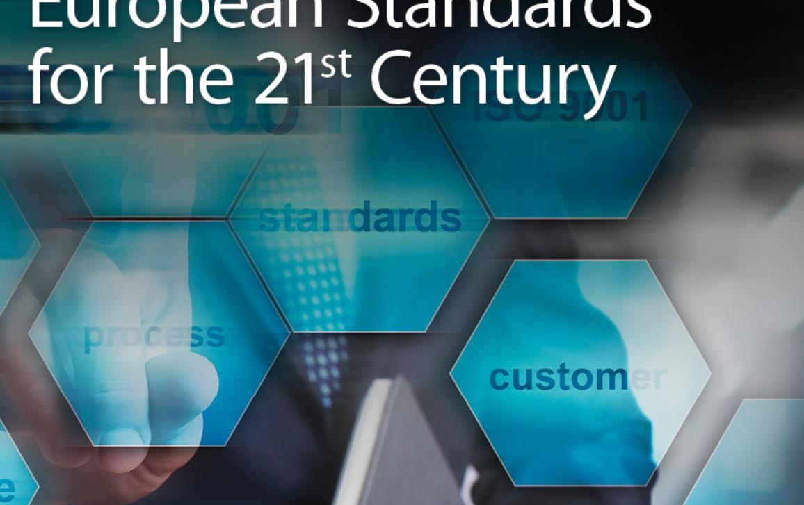Poster for the public hearing on European Standards for the 21st century