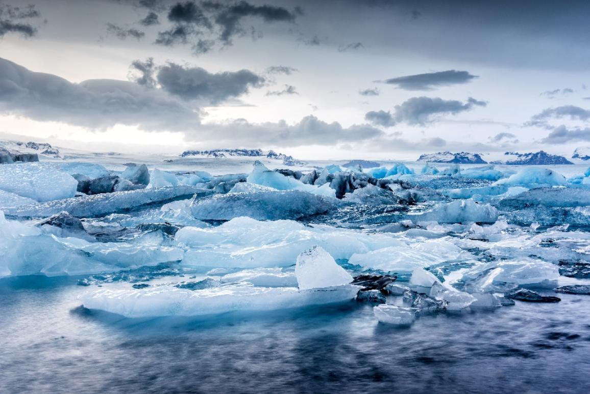 Icebergs floating ©AP Images/European Union-EP
