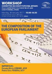 Poster for the workshop on The composition of the European Parliament