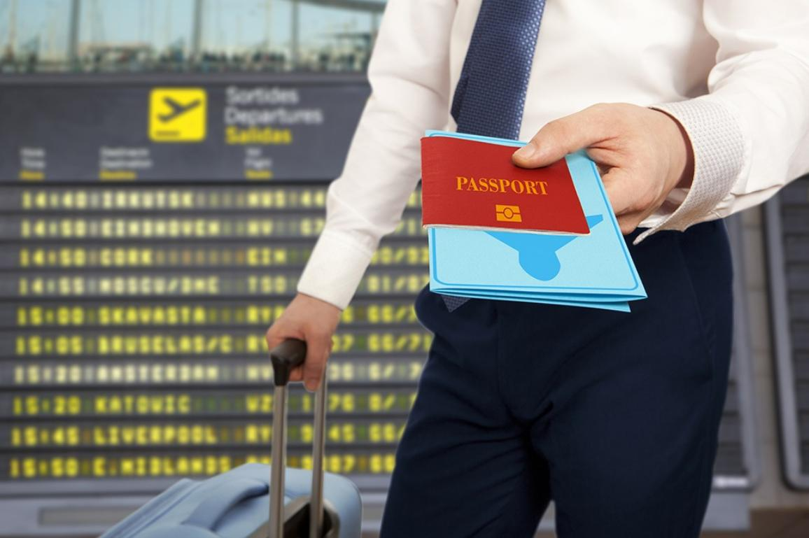 Passport control illustration