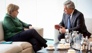 Angela Merkel meets President Tajani in Berlin_
