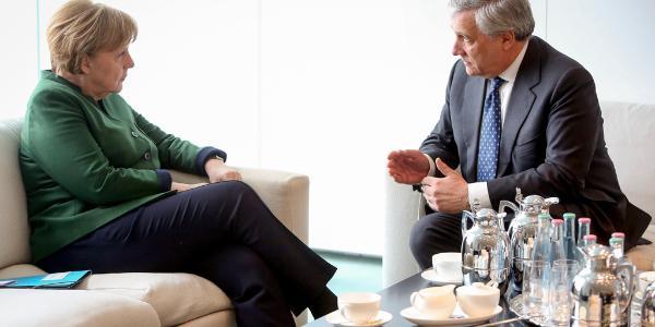 Angela Merkel meets President Tajani in Berlin_