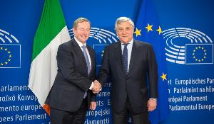 Irish PM Enda Kenny meets EP President Tajani_